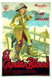 Captain Blood, Spanish Movie Poster, 1935 Print