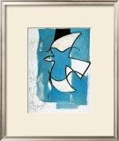 L'Oiseaux Bleu et Gris Print by Georges Braque
