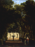 Villa Borghese, Rome, 1810 Reproduction procédé giclée par Jean-Joseph-Xavier Bidault