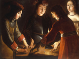 The Dice Players Print by Etienne de La Tour