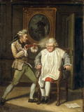 Dr Johnson with the Barber Art by John Collet