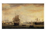 View of Bristol Dock and Quay, 1787 Giclee Print by Thomas Whitcombe