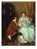 The Helping Hand, 1854 Reproduction procédé giclée par Benjamin Eugene Fichel