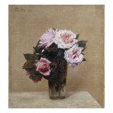 Fleurs - Roses Roses, 1886 Giclee Print by Henri Fantin-Latour