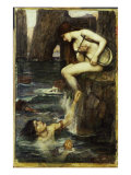 The Siren, c.1900 Print by John William Waterhouse