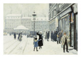 The Osterbrogade in Winter, 1918 Giclee Print by Paul Gustav Fischer