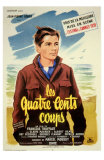 400 Blows, French Movie Poster, 1959 Lámina