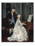 The Duet, 1872 Giclée-Druck von Edmond Georges Grandjean