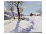 The Morning Sun in Winter Print by Ivan Fedorovich Choultse