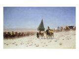 Grande Caravane De La Mecoue, 1867 Print by Charles Theodore Frere