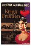 War and Peace, German Movie Poster, 1956 Print