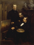 Theodore Chasseriau and his Contemporaries Giclee Print by Henri-Emil Giraud