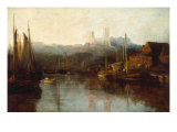 View of Lincoln Cathedral from the River Giclee Print by Peter De Wint