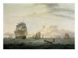 Shipping off Ramsgate Harbour, 1807 Giclee Print by Thomas Luny
