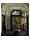 The Artist&#39;s Wife and Child in the Hall of their House on the Lijnbaansegracht Giclee Print by Carel Hansen