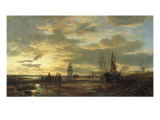 Low Tide, 1858 Giclee Print by Samuel Bough