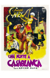 Night in Casablanca, Italian Movie Poster, 1946 Affiche