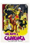 Night in Casablanca, Italian Movie Poster, 1946 Print