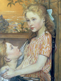 Young Girl and her Guardian Angel, 1894 Giclee Print by Charles Maurin
