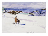 Gentleman Sketching Giclee Print by Francis Campbell Boileau Cadell