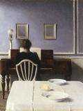 Interior with a Girl at the Clavier, 1901 Giclée-Druck von Vilhelm Hammershoi