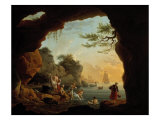 Les Baigneuses, 1759 Gicl&#233;e-Druck von Claude-Joseph Vernet