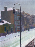 A London Street in Snow, 1917 Giclee Print by Harold Gilman