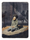 Shamyl Praying, 1860 Giclee Print by Mihaly von Zichy