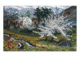 Apple Trees in Bloom Giclée-tryk af Nikolai Astrup