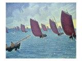 Brise, Concarneau - Presto, 1891 Giclee Print by Paul Signac