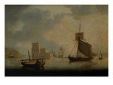 Naval Cutter by Belem Tower at the Mouth of the Tagus Giclee Print by William Anderson