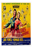 Seven Brides for Seven Brothers, UK Movie Poster, 1954 Poster