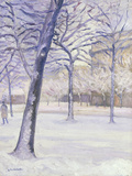 Parc sous la Neige, Paris, c.1888 Art by Gustave Caillebotte