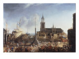 Dutch Harbour Scene Giclee Print by Jan Beerstraaten