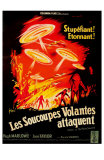 Earth vs. the Flying Saucers, French Movie Poster, 1956 Photo