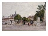 Venise, La Promenade du Palais Royal, 1895 Art by Eugène Boudin