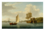 A Collier Brig at Anchor on the Medway Giclee Print by William Anderson