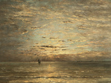 A Seascape at Sunset Giclee Print by Hendrik Willem Mesdag