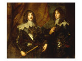Portrait of Prince Charles Louis, Elector Palatine (1617-1680) and Prince Rupert (1619-1692) Kunst von Anthony Van Dyck