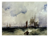 Shipping of the Coast of Dunkirk, 1824 Giclee Print by Richard Parkes Bonington
