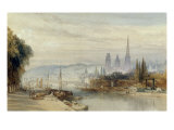 View of Rouen on the Saine, 1858 Prints by William Callow