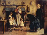 A New Toy, 1870 Giclee Print by Joseph Clark