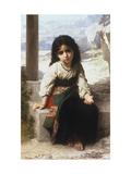Petite Mendiante, 1880 Affiches par William Adolphe Bouguereau
