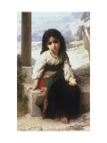 Petite Mendiante, 1880 Giclee Print by William Adolphe Bouguereau