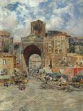 Porta Capuana, Napoli Giclee Print by Carlo Brancaccio