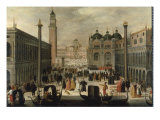 Venice, The Piazzetta and the Doge's Palace Giclee Print by Louis de Caullery