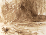 Study of the River Washburn, Yorkshire, c.1815 Prints by William Turner