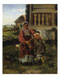 Village Children, 1880 Print by Vladimir Egorovic Makovsky