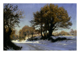 First Snow in Brittany, 1881 Giclee Print by Christian Zacho