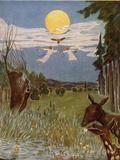 Der Flug nach der Sternenwiese, Illustration, 1928 Giclee Print by Hans Baluschek